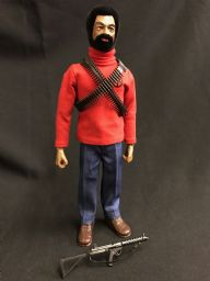 CUSTOM ACTION MAN - BLACK EAGLE EYES ADVENTURE TEAM FIGURE ( Ref Cus3)